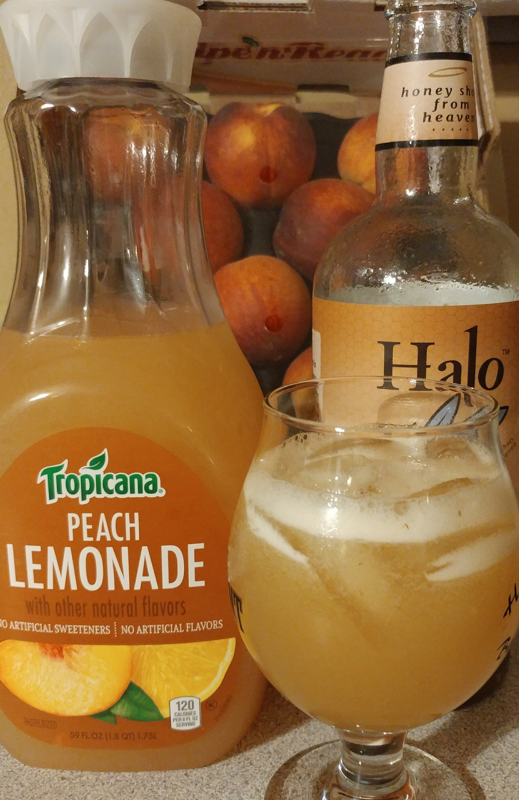 Halo Spiked Peach Lemonade